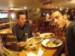 Gerdjan en Mike aant eten (Port Talbot, UK)